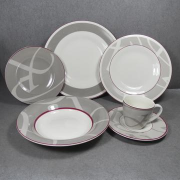 Porcelain Dinnerware Set Grey