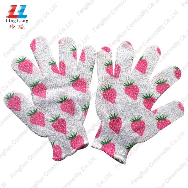 moisturizing bath body scrub bathroom sponge gloves