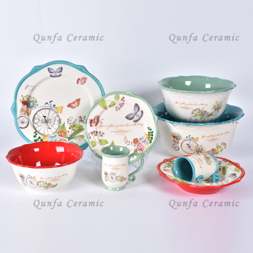 New fashionable porcelain dinner set luxury ceramic dinnerware sets