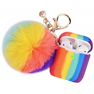 Custom Rainbow Fashion Silicone Airpod Case Cover