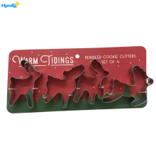 Metal Mini Christmas reindeer cookie cutters