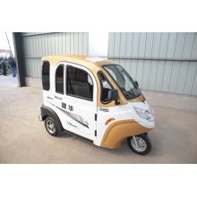 Smooth three-wheeled electric car