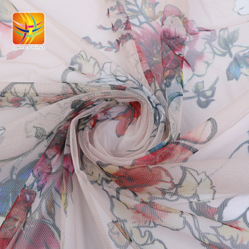 Comfortable mesh fabric flower design low price