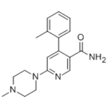 3-PYRIDINECARBOXAMID, 4- (2-METHYLPHENYL) -6- (4-METHYL-1-PIPERAZINYL) - CAS 342417-01-0