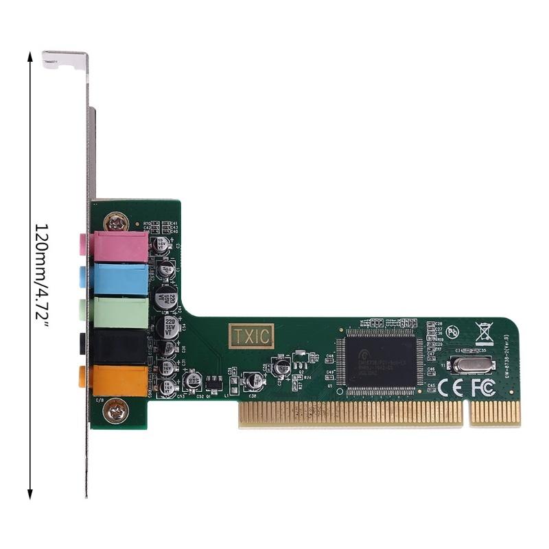Classic PCI Surround Sound Card 5.1CH Channel 8738 Chipset Digital Desktop Plug-In Board TXC097A