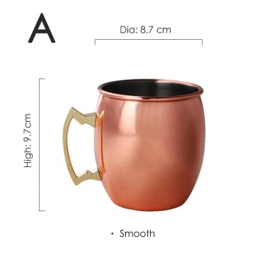 Rose Gold Plated  moscow mule copper mug