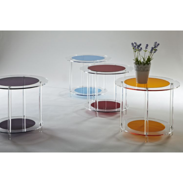 Colored Acrylic Round Side Table