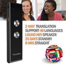 Portable Multi Language Voice Translator, T8 Real Time Instant Two-Way 40 Languages Translation for Travel Shopping Learning