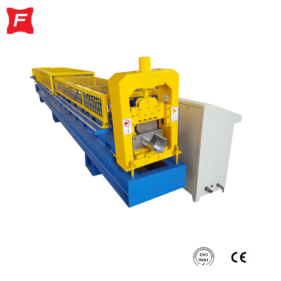 Galvanized Steel Sheet Circular Gutter Roll Forming Machine