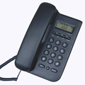 Corded Telephone Desktop Wall Hanging Landline Telephone with Caller ID, Adjustable Display Brightness, for Home Office, Black
