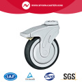 Bolt Hole Braked TPR Medical Caster