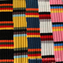 Colorful Stripe Rib Cotton