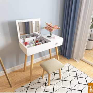 Mini  hidden storage dressing table with stool