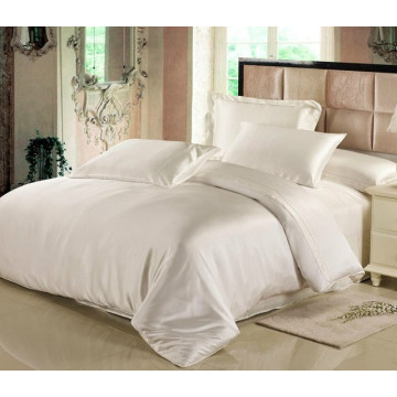Silk 4Pcs Duvet Comforter Cover Fitted Bedding Set