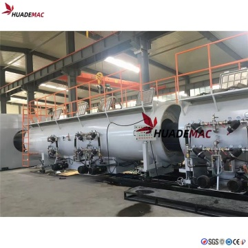 Large diameter HDPE pipe production line