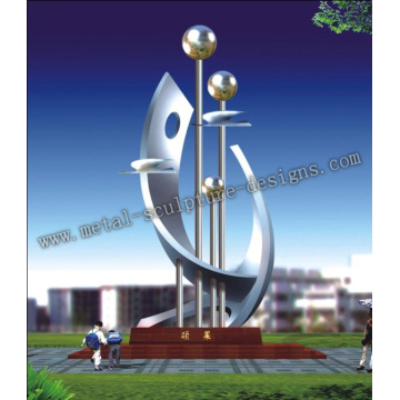 outdoor stainless steel sculpture - Flying