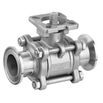 Clamped Type Stainless Steel 3PC Ball Valve