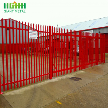 Low price used steel palisade fence for garden