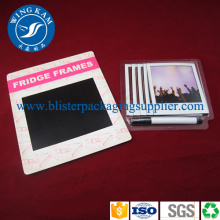 Clear Round Plastic Slide Card Blister Pipe Packaging