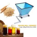 Professional Stainless Steel Grains Mill Food Grinder Processors 2 Rollers Manual Malt Corn Grain Crusher for Malt Barley Wheat