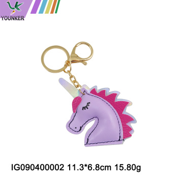 Various cute shaped artificial PU leather keychians