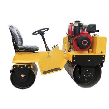 Low price small double steel wheel road roller