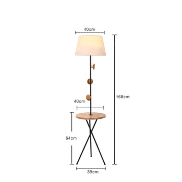 Black Wooden Contemporary Lamps
