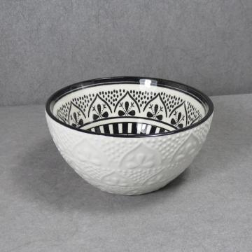 Embossed Ceramic Bowl Set