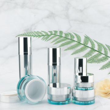 Acrylic straight round vacuum face cream bottle