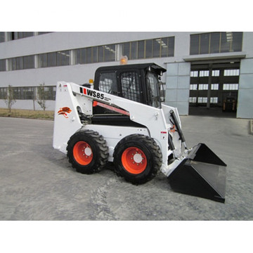Powerful avant mini backhoe loader