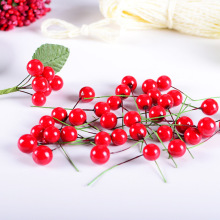 100pcs Artificial Red Berry Flower Red Pearl Berries Branch For Wedding Christmas Decoration Diy Gift Box Craft Flower