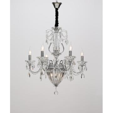 Modern Living Room Elegant Crystal Iron Chandelier