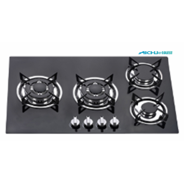 4 Burners Tempered Glass Surface Gas Stove
