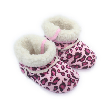 Cool Suede Leather Leopard Print Baby Boots