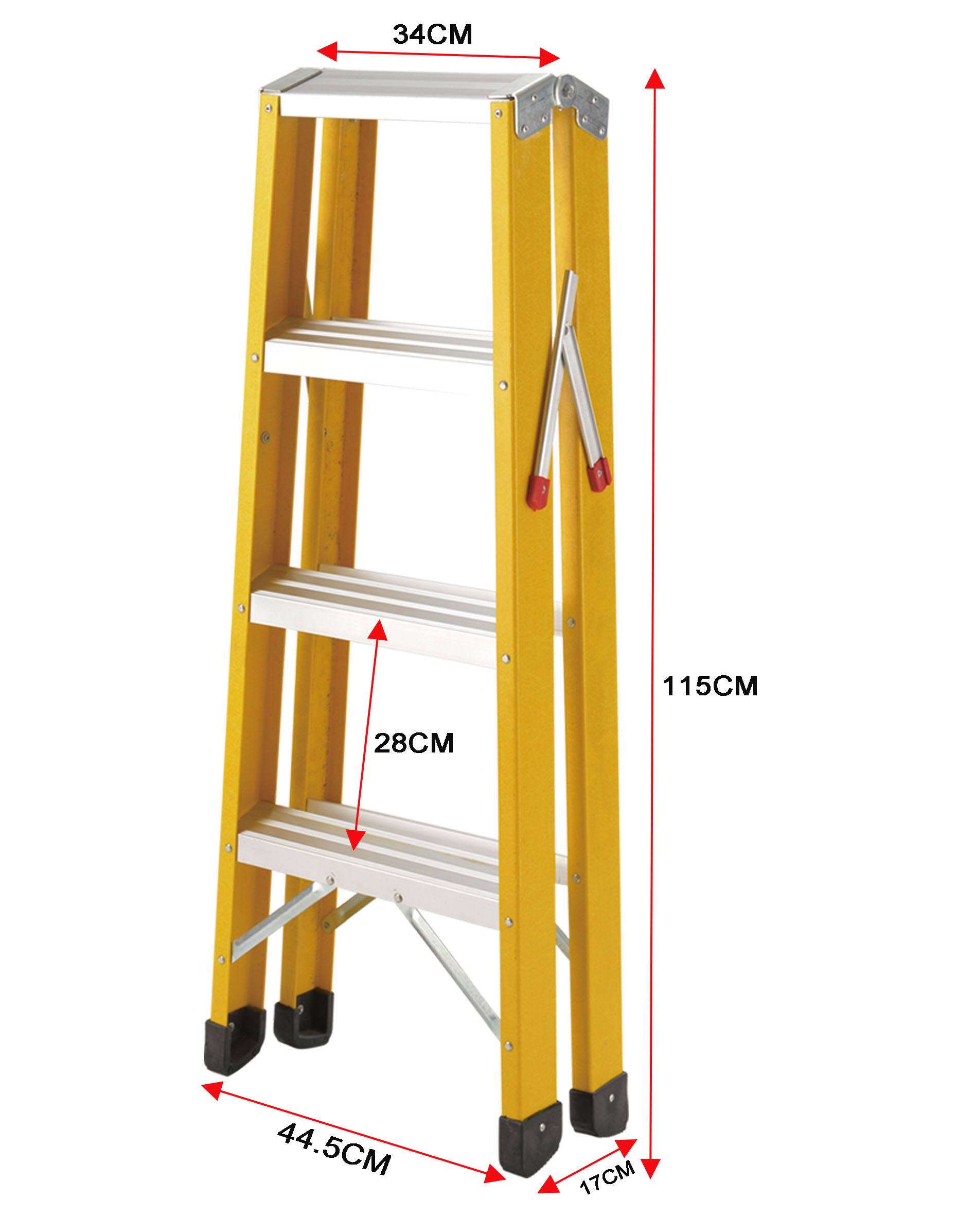 Double side fiberglass ladder