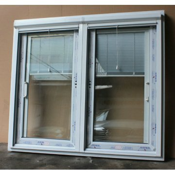 Luxury UPVC Sliding Windows with Built-in Blinds Foshan Factory