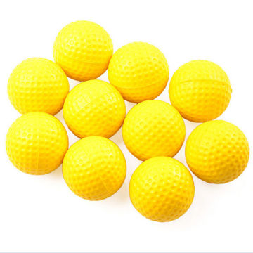 Golf Balls Practice Training Aid Plastic Outdoor Sports Yellow 10PCS One Piece Soft Elastic High Quality 70