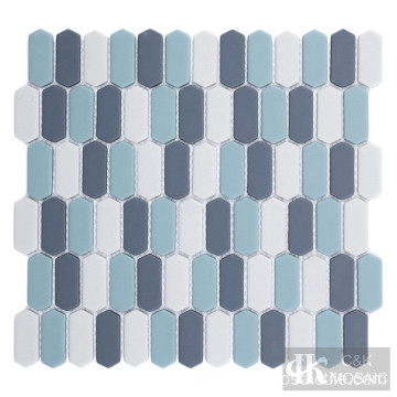 Blue Multi Colored Glass Mosaic Tiles