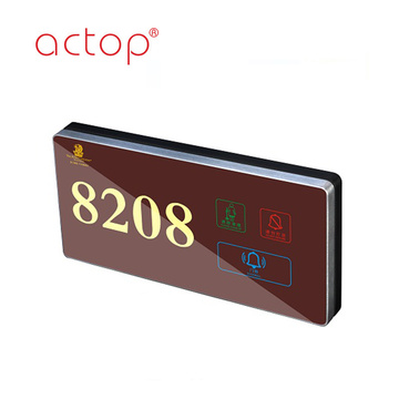 hotel digital Led Back light electronic doorplate