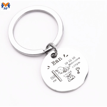 Metal Craft Customize Words Keychain