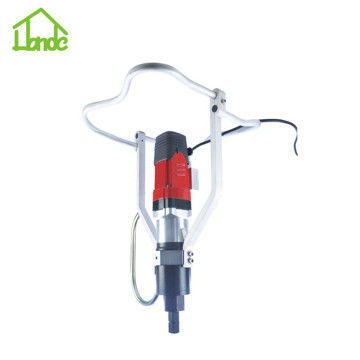 Electric hand driver for ground screw piles