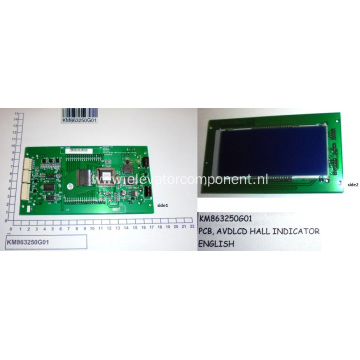 KONE Lift AVDLCD Hall Indicator Board KM863250G01