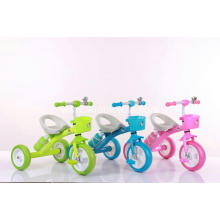 Three Color Steel Frame Child Tricycle