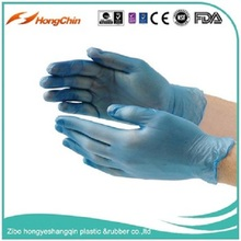 9 inch white color vinyl hand disposable gloves