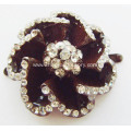 Appealing Flowers Alloy Rhinestone Lady Shoe Buckle