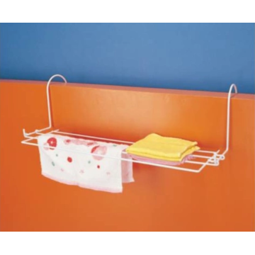 Towel rack for bathroom door with two hooks