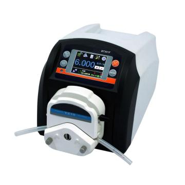 Flow controlling smooth transfer linear peristaltic pump