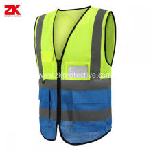 4 pockets class 2 high visibility safety vest