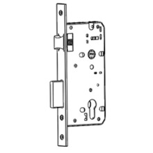 Latch bolt and dead bolt mortise lock