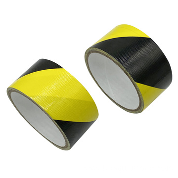 black and yellow self adhesive warning duct tape